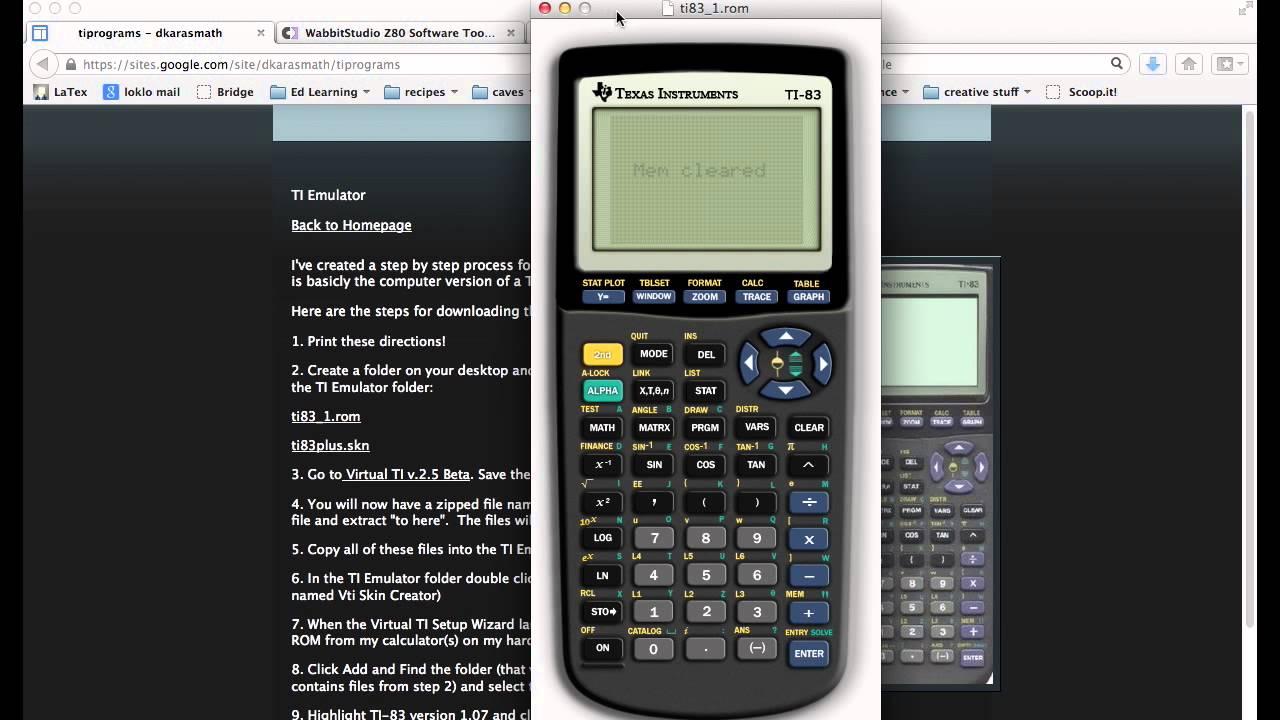 Virtual Texas Instruments Calculator