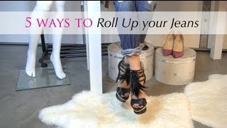 How To Cuff & Roll Up Jeans