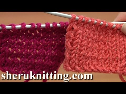 The Stockinette Stitch Knitting Tutorial 4 Part 2 of 2 Second Way To Work Stockinette