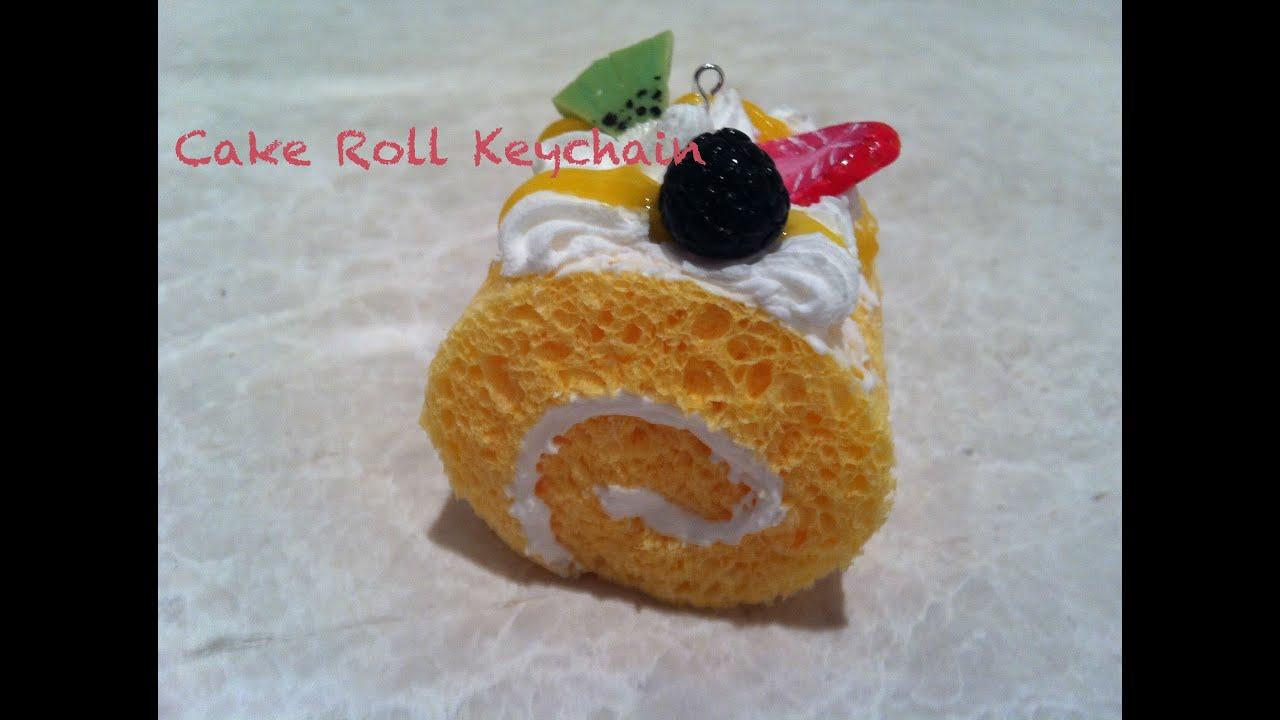 Diy Squishy Cake Roll : DIY Cake roll keychain - YouTube