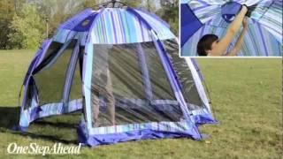 Sun Smarties Pop-up Cabana and Beach Tent From One Step Ahead - YouTube & Sun Smarties Pop-up Cabana and Beach Tent From One Step Ahead ...