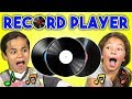 KIDS REACT TO RECORD PLAYERS VINYL