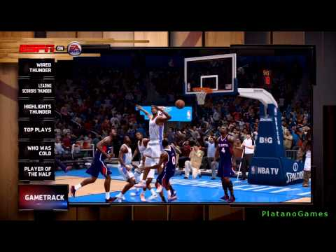 NBA Live 14 PS4 - Atlanta Hawks vs Oklahoma City Thunder - Halftime Highlights Show -  HD