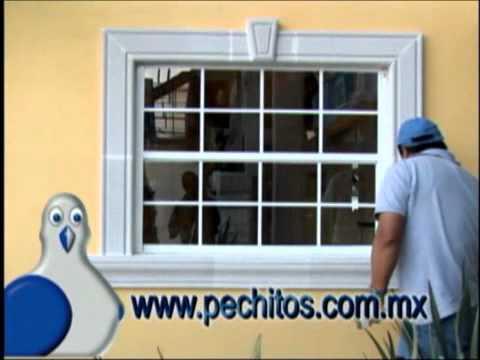 Instalacion de molduras de concreto celular aligerado - Molduras para ventanas exteriores casas ...