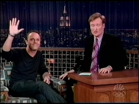 Lars Ulrich on Conan O'Brien (2004) [Full Interview]