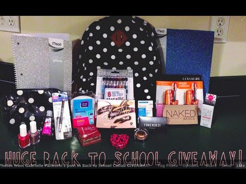 HUGE $300 Back To School Giveaway! (Benefit, Urban Decay, Forever 21, +more!)