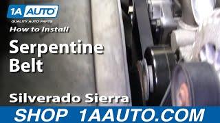 How To Install Replace Serpentine Belt Silverado Sierra