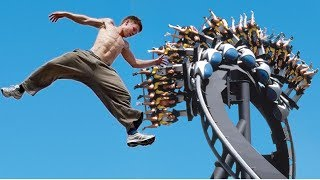 [Parkour at the Theme Park Part II (Free running at Bush Gardens)] Video