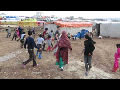 Malala plays football with Syrian refugee children