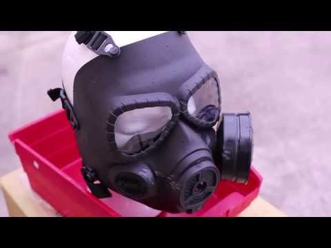Russian Gas Mask vs. 425 FPS Airsoft Stress Test