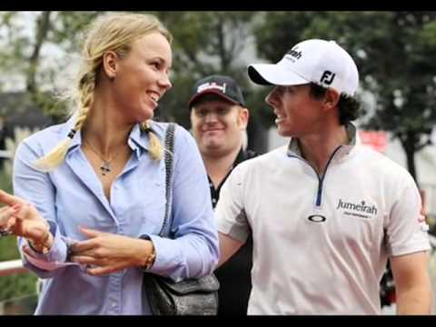 2014 Caroline Wozniacki and Boyfriend Rory McIlroy [Kiss Hot]