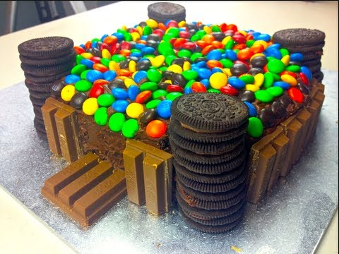 KIT KAT & M&M CASTLE CAKE - How to video