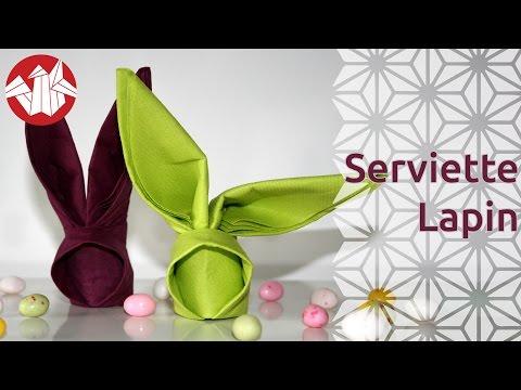 Origami - Serviette lapin - Bunny Napkin