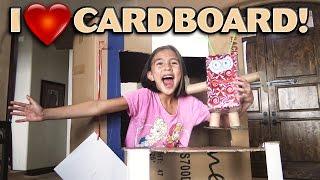 I LOVE CARDBOARD!!! Crafting with Jillian!