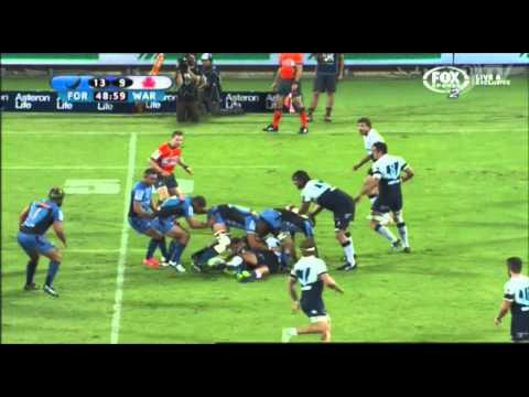 Nick Cummins scores Triple Meat against the Waratahs | Super Rugby Video - Nick Cummins scores Tripl