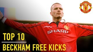 David Beckham's Top 10 Premier League Free Kicks | Manchester United