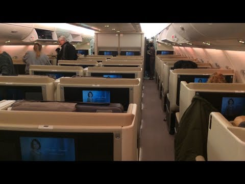 Singapore Airlines Business Class - New York to Frankfurt - A380 Upper Deck