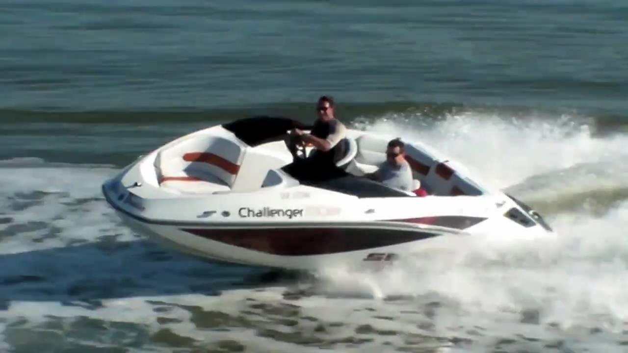 wakeboarding behind seadoo challenger 180 - YouTube