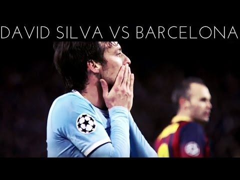 David Silva vs Barcelona (H) 2013-2014 UCL HD