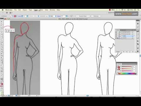 How to Use Adobe Illustrator's Pen Tool to Draw a Fashion Sketch