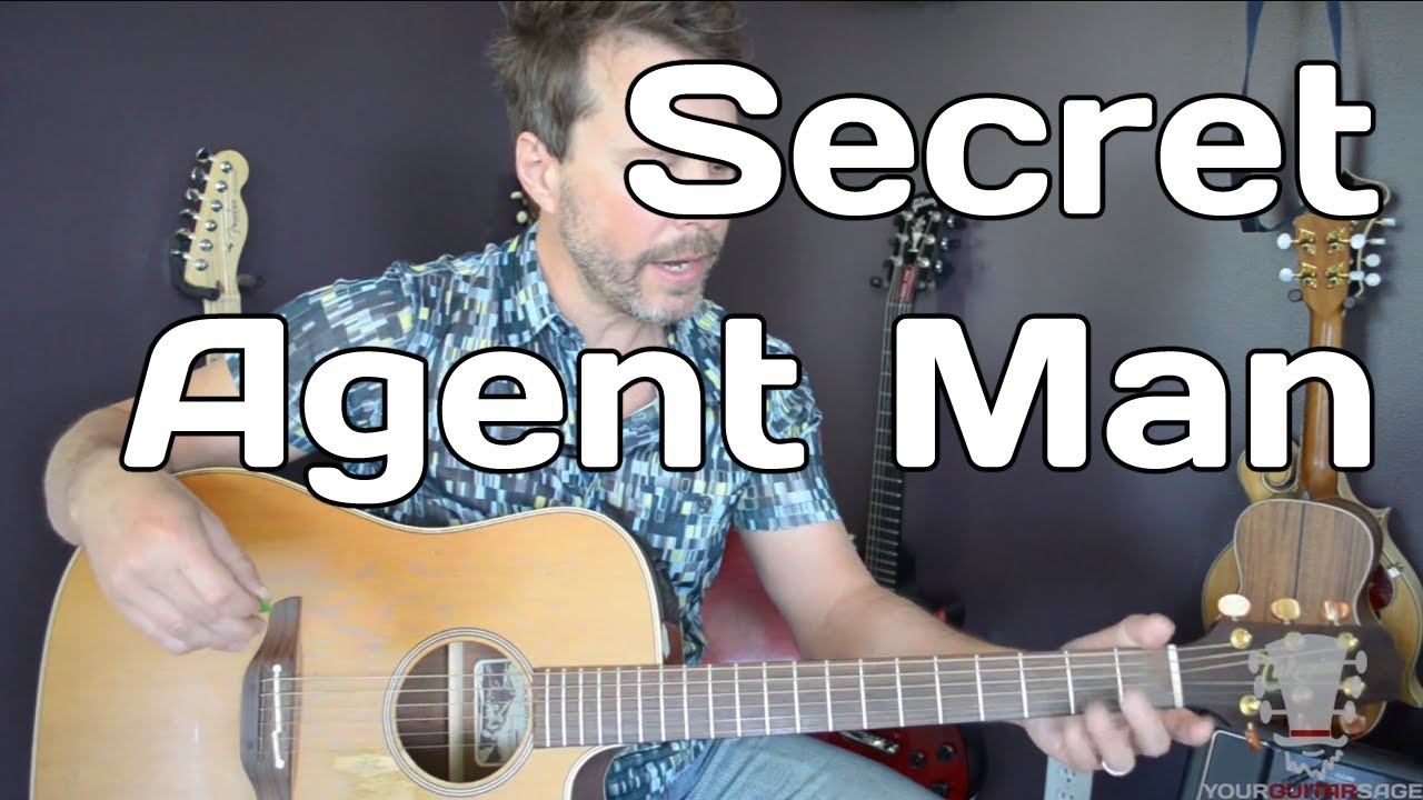 Secret agent man by johnny rivers how to play guitar lesson