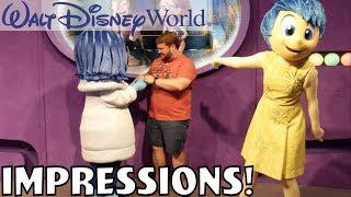 I MADE SADNESS HAPPY?!? - Disney World Impressions