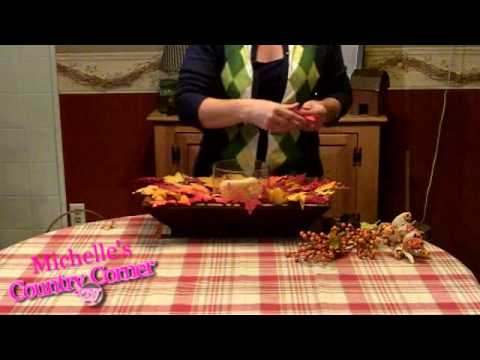 Fall Home Decorating Ideas on Country Home Decorating Ideas   Fall Table Centerpiece   Youtube