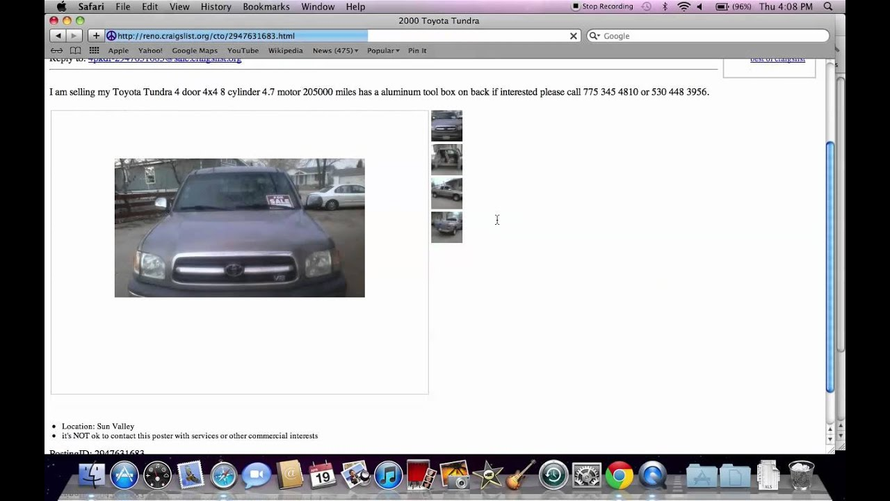 Craigslist Reno Tahoe Used Trucks Cars And Vehicles Under 1500 Available Youtube