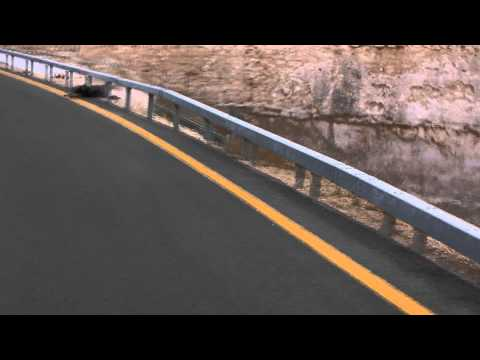 Steven Kler hugs a guardrail [longboard crash]