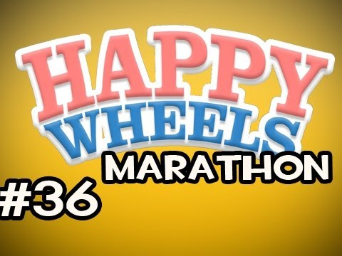 Happy Wheels MARATHON w/Nova Ep.36 - Parkour Up The Pooper