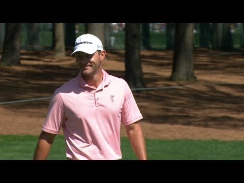 Shawn Stefani negotiates a 51-foot putt for birdie at Wells Fargo