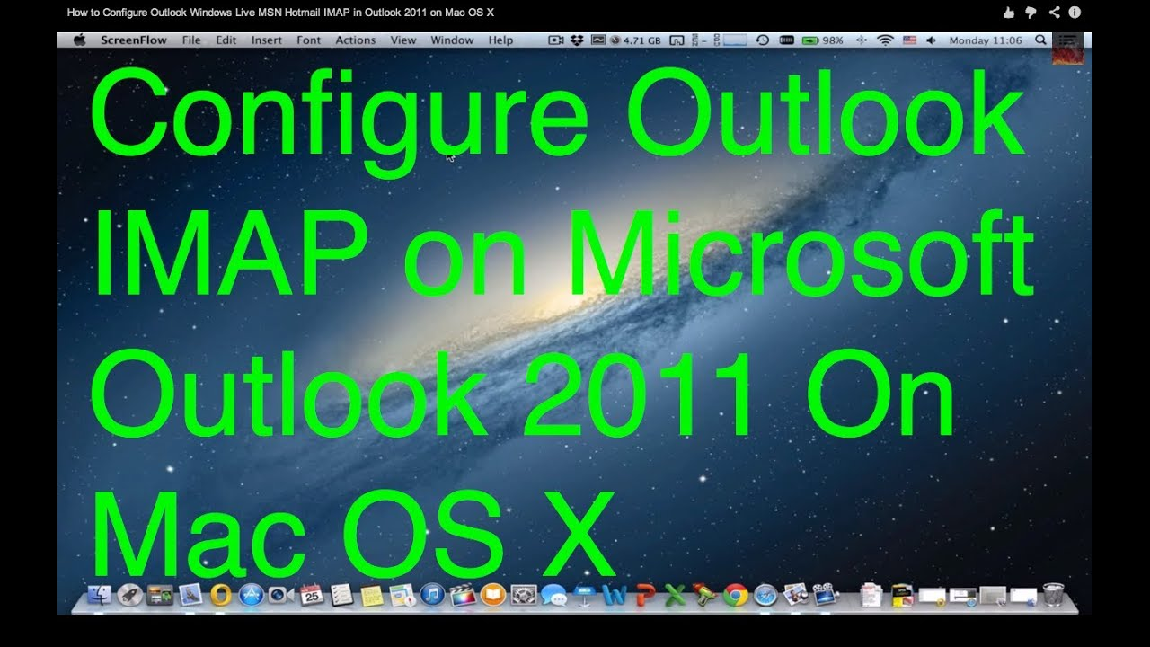 how to add hotmail account to outlook 2011 mac