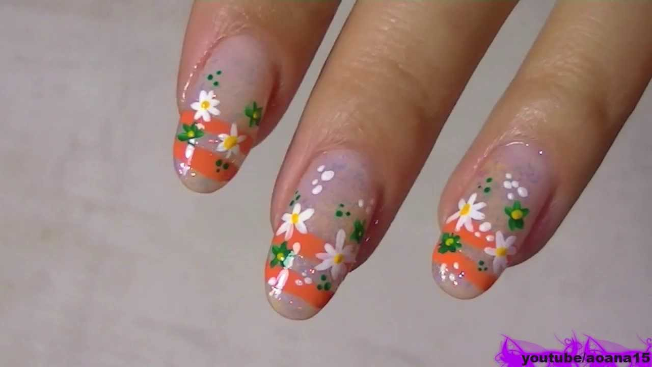YouTube Flower Nail Art Design
