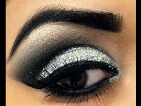 0 Silver Sequin Eye Makeup Tutorial