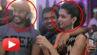 SPOTTED ! Ranveer Singh With Deepika Padukone in The Making Of Lungi Dance !