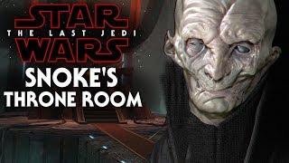 Snoke's Throne Room Revealed! New Footage - Star Wars The Last Jedi