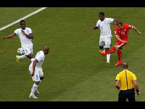 XHERDAN SHAQIRI HEATRIC GOAL HONDURAS VS SWITZERLAND WORLD CUP
