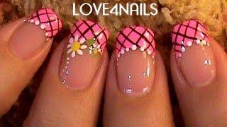 Decoración de uñas - Flores Margaritas