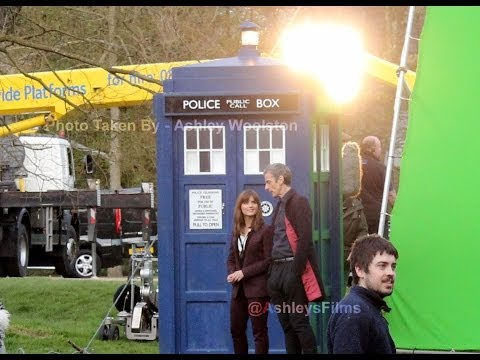 Doctor Who - Series 8 Filming 18/03/14 - Peter Capaldi & Jenna Coleman