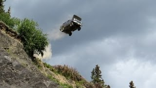 Ford Bronco Jumps Off 300 Ft. Cliff