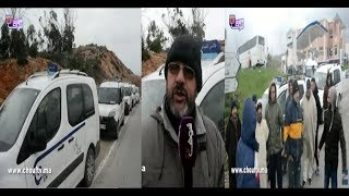 بالفيديو..سائقو طاكسيات الفنيدق يحتجون ..الخطافة قتلونا |