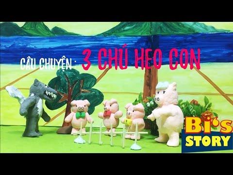 MÚA RỐI ĐẤT NẶN: BA CHÚ HEO CON| CLAY PUPPET: THREE LITTLE PIGS