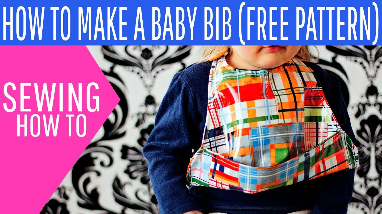 how to make a baby bib youtube