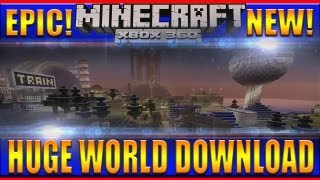 Minecraft XBOX 360 Awesome HUGE World Download!
