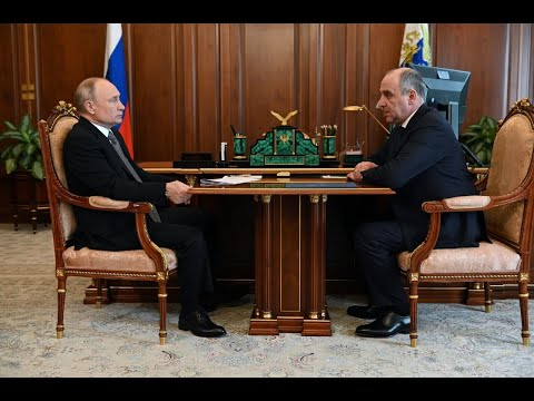 Президент РФ Владимир Путин провел рабочую встречу с Главой КЧР Р.Б. Темрезовым (Россия1)