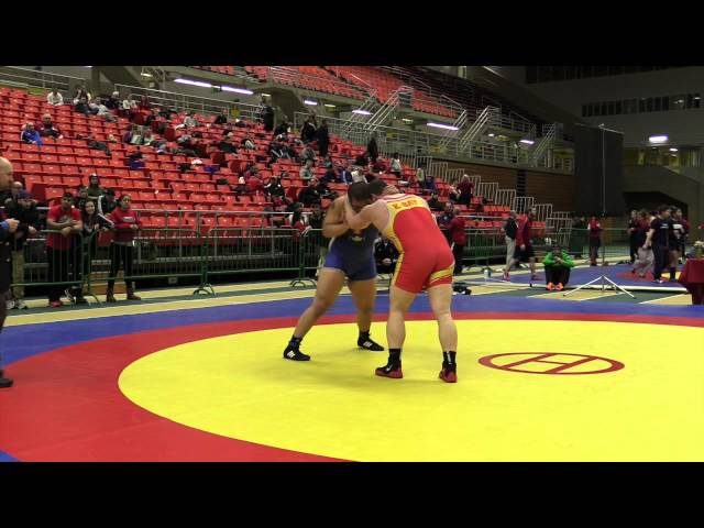 2014 Junior National Championships: 120 kg Wrestleoff Tony Legare vs. Kyle Nguyen