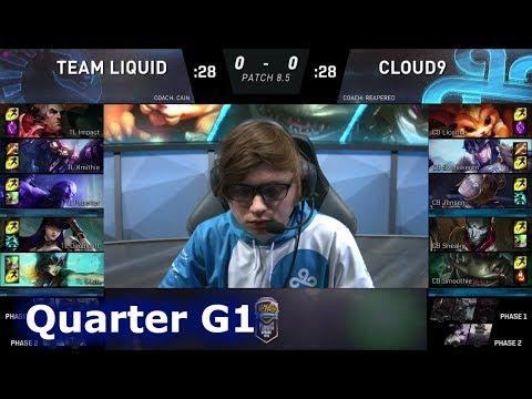 Team Liquid vs Cloud 9 | Game 1 Quarter Finals S8 NA LCS Spring 2018 | TL vs C9 G1