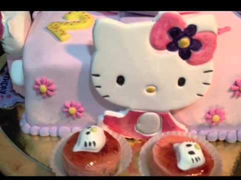 تصميم كيكه بشخصيه هيلو كيتي Hello Kitty cake decoration