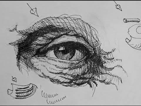 Pen & Ink Drawing Tutorials | How to draw eyes with wrinkles