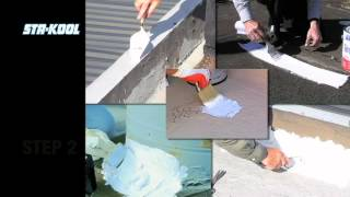 How To Apply An Elastomeric White Cool Roof Coating   YouTube